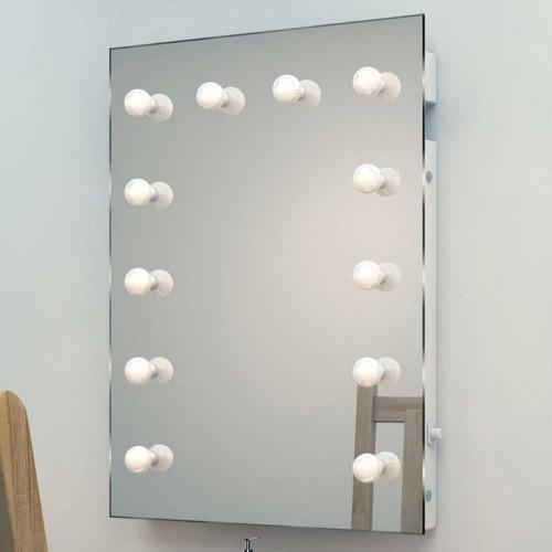 Professionele visagie spiegel met 12 dimbare lampen