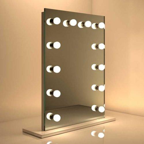 Populair model visagie spiegel met handige dimbare verlichting