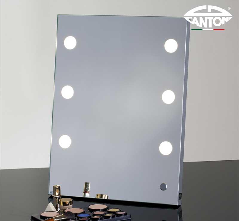 Luxe Italiaanse visagie spiegel met professionele lampen en ...