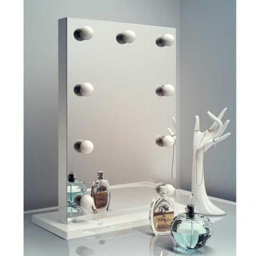 Luxe make-up spiegeltje met 9 dimbare lampen