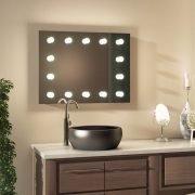 Deze degelijke Hollywood spiegel is gebouwd op een luxe aluminium frame
