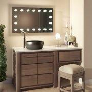 De rondom geplaatste lampen geven de ideale verlichting bij het scheren of make-uppen!
