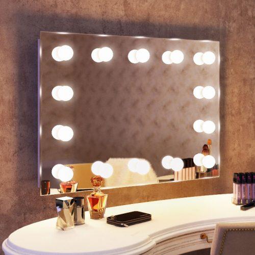 Fraaie Hollywood spiegel met 14 dimbare lampen