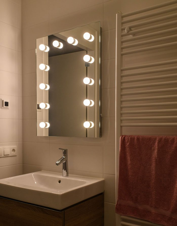 Badkamer visagie make-up spiegel met lampen