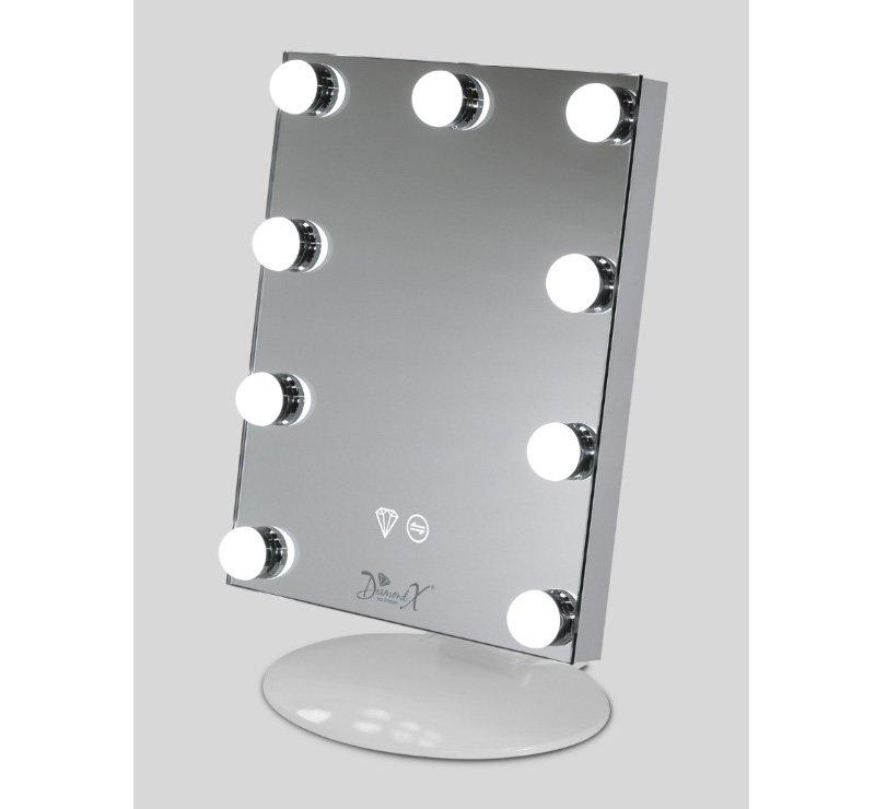 Fraaie mini X-pro make-up spiegel voor slaapkamer, kleedruimte of studio!